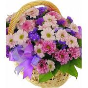 Хризантеми в кошику