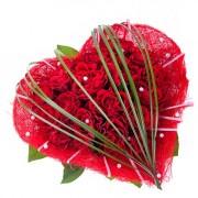 Серце з червоних троянд
