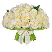 Букет з білих троянд від 51шт.